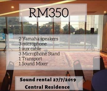 Sound system rental / PA system rental