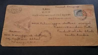 Cover CENSORED KLANG India 1940 No 3511