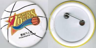 NBA Basketball Philadelphia 76ers Button Badge