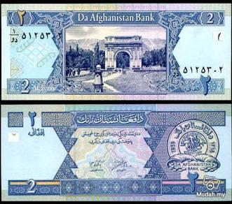 Afghanistan 2 afganis 2002 p 65 unc