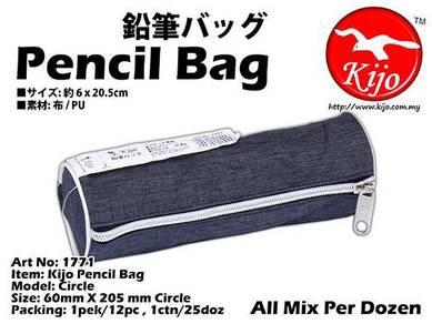 1771 Kijo Pencil Bag Black