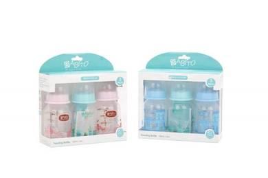 Babito Baby Feeding Bottle 4oz/120ml 3 in 1 Set