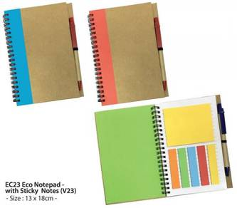 EC23 Eco Notepad - with Sticky Notes (V23)