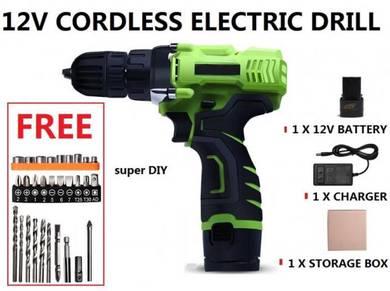 Portable Cordless Drill Electric Screwdriver Set