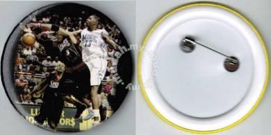 NBA#7 LosAngeles Lakers Orlando Magic Button Badge