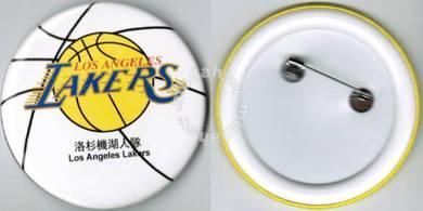 NBA Basketball Los Angeles Lakers Button Badge