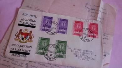 RARE FDC Parliament IPOH 1959 No 1382