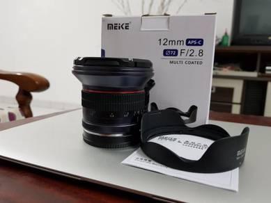 Meike 12mm F 2.8 superwide angle lens like new