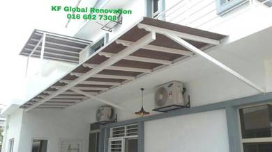 Mild Steel Awning with Solid Polycarbonate Sheet A