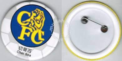 Chelsea Premier League Football Button Badge 58mm