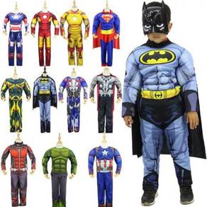Super hero iron man batman kid suit cosplay costu