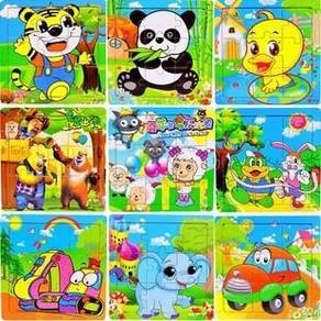 Mini 9 Pcs Kids Animal Puzzle Toy- Random