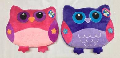 Owl Cushion Pillow - Pink OR Purple ~FREE SHIPPING