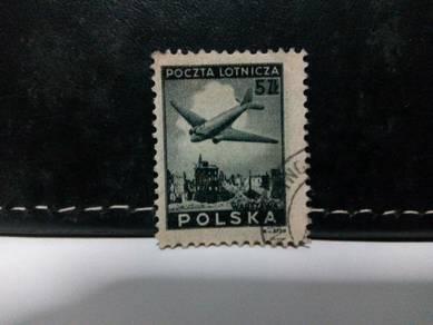 1946 Poland Stamp Aircraft Warsaw