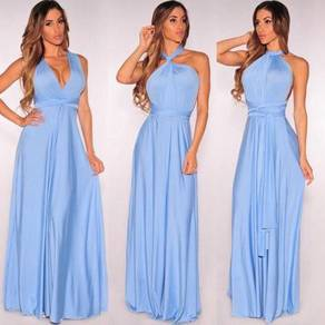 Bridesmaid prom dinner maxi dress gown RBBD0012