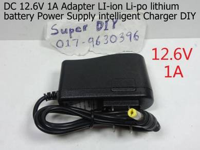 DC 12.6V 1A Adapter lithium Li-ion battery charger