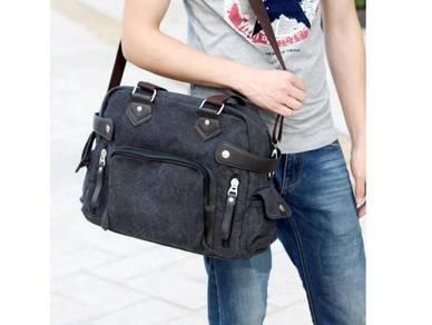 Men Canvas Shoulder Messenger Travel Bag