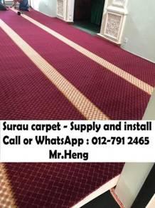 Classic Merah Carpet Surau Siap PasangRS75