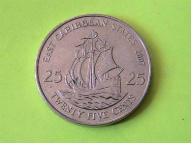 East Caribbean States 25 Cents 2007