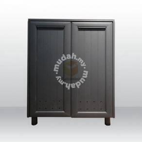 Aluminium Shoes Cabinet-Black