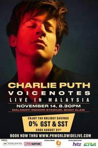 Charlie Puth U-Mobile Cat2 Zone Discounted Ticket
