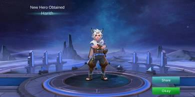 New Hero Harith for Starter Mobile Legend Legends
