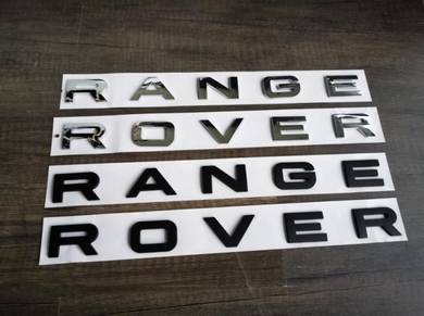 Range Rover Hood & Trunk Word Emblem