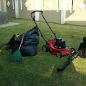 Perkhidmatan mesin rumput / mencuci kawasan