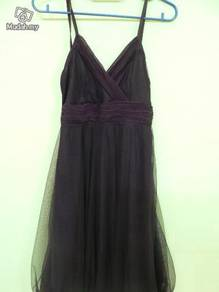 Purple lace evening wear