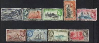Barbados 1953 qeii definitives stamps used bk914