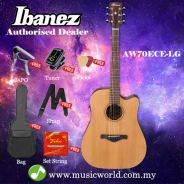 Ibanez artwood aw70ece-lg natural low gloss acoust