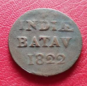 Duit Syiling 5 1/16G Indiae Batav Tahun 1822
