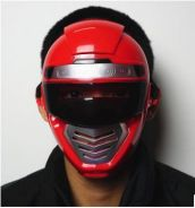 Power ranger mask (red)