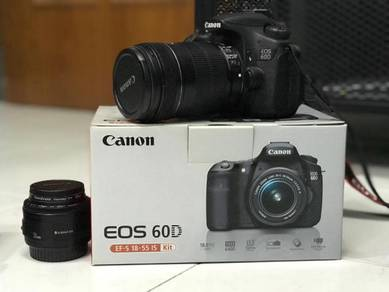 Canon EOS 60D with EFS 18-135mm Lens