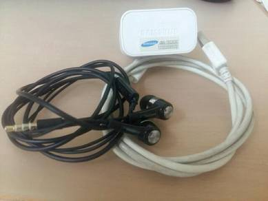 Original Samsung FM Earphone Handfree and Charger