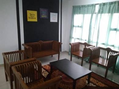 Bilik Muslimah di PANGSAPURI SELASIH Free WIFI & Lengkap perabut