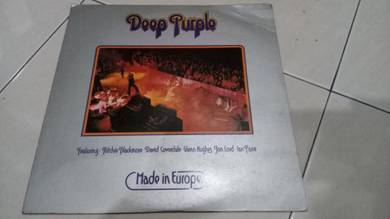 Deep Purple - Made in Europe LP Piring Hitam