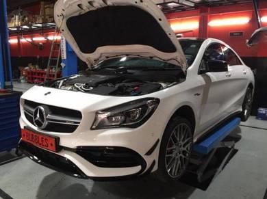 Mercedes cla45 a-klass a45 service maintence mobil