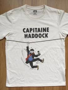 UNIQLO TINTIN Captain Haddock tshirt Brand NEW