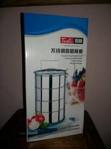 Tuoli 4 Layer Tiffin Carrier 14CM Mangkuk Tingkat