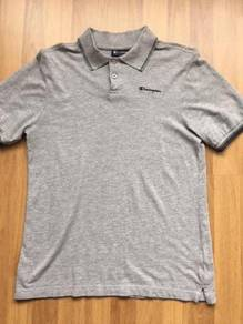 CHAMPION tipped grey polo size S