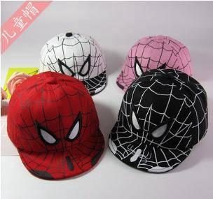 Spiderman kid cap (black red pink white)