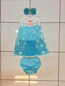 Frozen Baby Tutu Dress with Panty & Headband