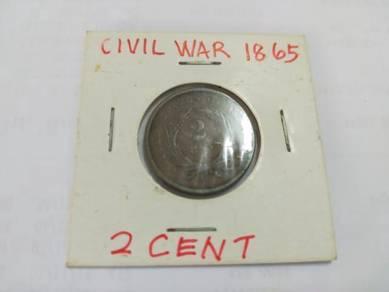 1865 American civil war coin