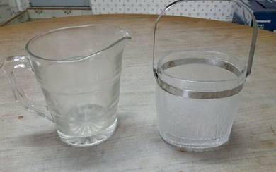 Glass jug + ice bucket