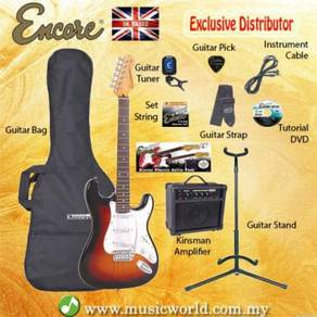 Encore e6 electric guitar pack gloss black