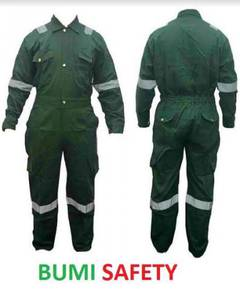 Cotton coverall dark green