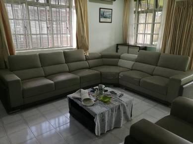 Used Full Leather Sofa 3+2+1+corner