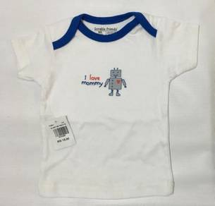Luvable Friends Baby Boy Shirt (I Love Mommy)