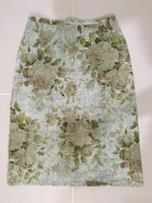 Green Flowery Skirt ~ FREE SHIPPING